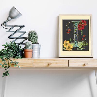 A4 desk frame I