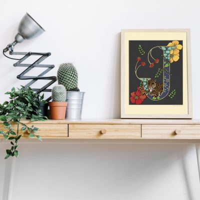 A4 desk frame J