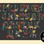 A2 Animal alphabet poster