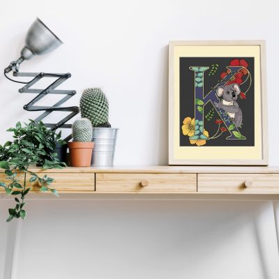 A4 Koala decorative letter print