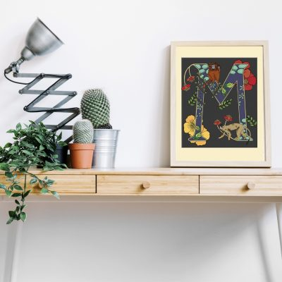 A4 desk frame M