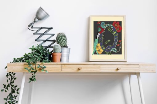 A4 Quetzal decorative letter print