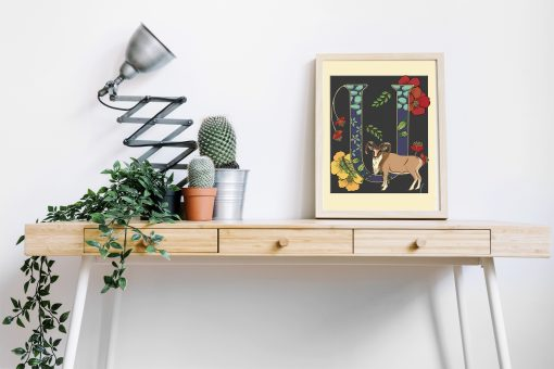 A4 Urial decorative letter print